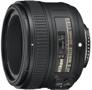 Объектив Nikon 50 mm f/1.8G AF-S Nikkor. Объективно один из самых лучших портретных объективов.